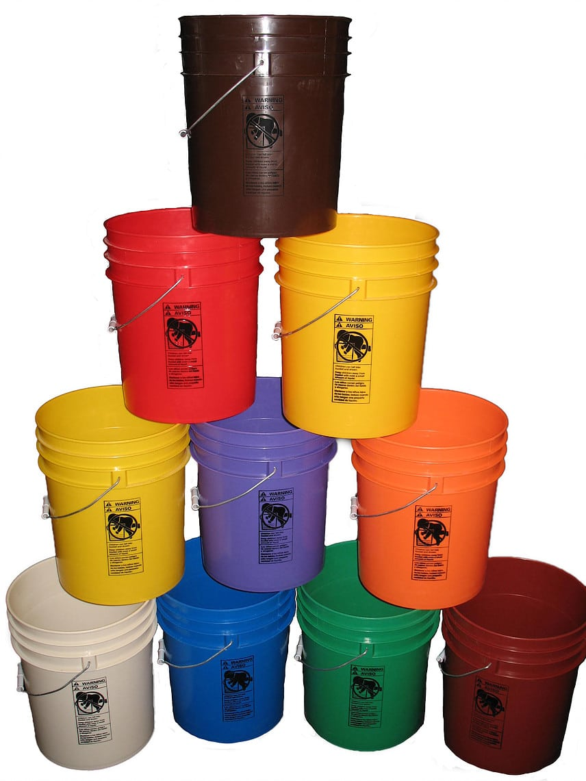 Plastic Buckets Amp Pails Affordable Buckets Custom Order