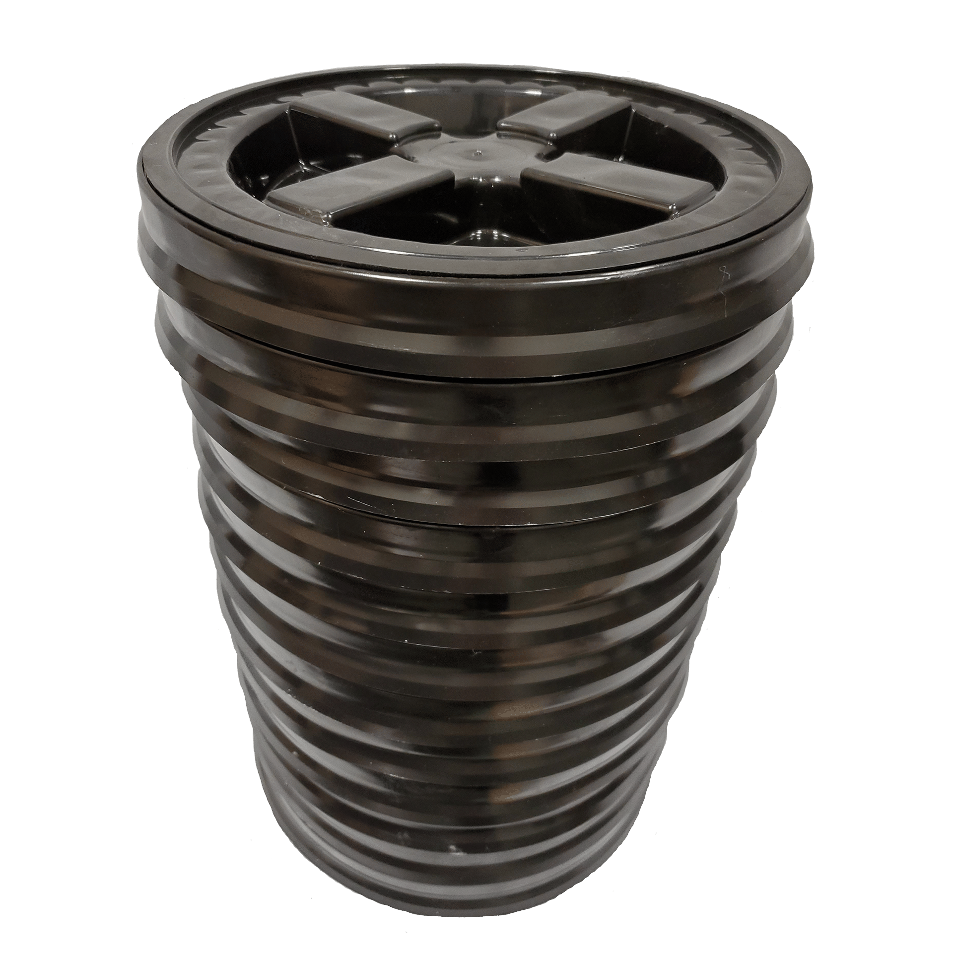 GAMMA , 5 Black Black 2 Gallon Bucket with Gasketed Lid