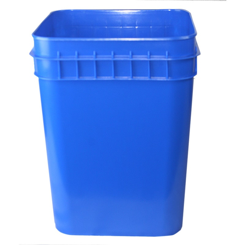 Bulk 4 Gallon Square Plastic Bucket W Wire Handle
