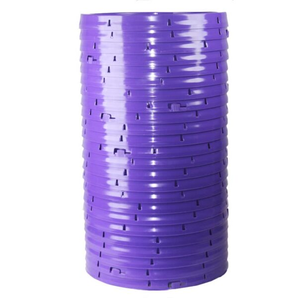 Purple plastic lid with gasket and tear tab fits 3.5 gallon, 4.25 gallon, 5 gallon, and 5.25 gallon round pails