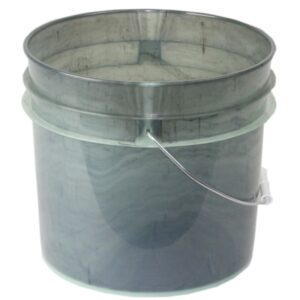 Blem plastic 3.5 gallon round bucket w/ wire bale handle with plastic roller grip
