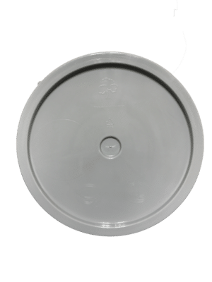 Grey lid top side of tear tab and gasketed lid fits 3.5 Gal, 4.25 Gal, 5 Gal, and 5.25 Gal pails
