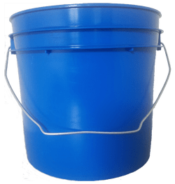 Chevron Blue plastic 1 gallon round bucket w/ wire bale handle
