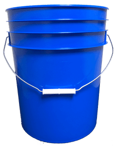 Chevron Blue plastic 5 gallon round bucket w/ wire bale handle with plastic roller grip