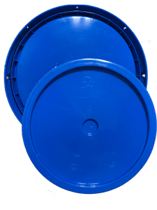 Chevron Blue plastic lid with gasket and tear tab fits 3.5 gallon, 4.25 gallon, 5 gallon, and 5.25 gallon round pails