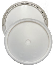 Natural plastic lid with gasket and tear tab fits 3.5 Gal, 4.25 Gal, 5 Gal, and 5.25 Gal round pails