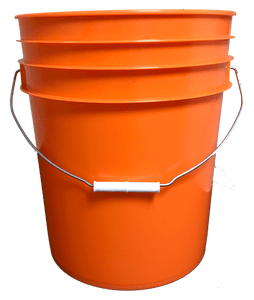 bulk 5 gallon round plastic bucket w wire handle plastic grip