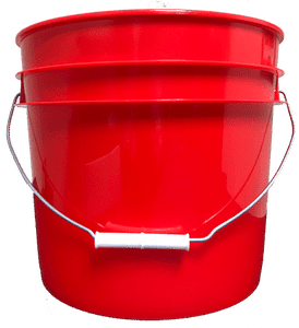 Bulk 3 5 Gallon Round Plastic Bucket W Wire Handle
