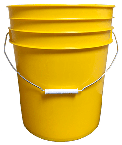 Bulk 5 Gallon Round Plastic Buckets 12 W Wire Handle