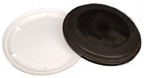 Plastic EZ ON Lid fits standard 3.5 gallon, 5 gallon, 5.25 gallon