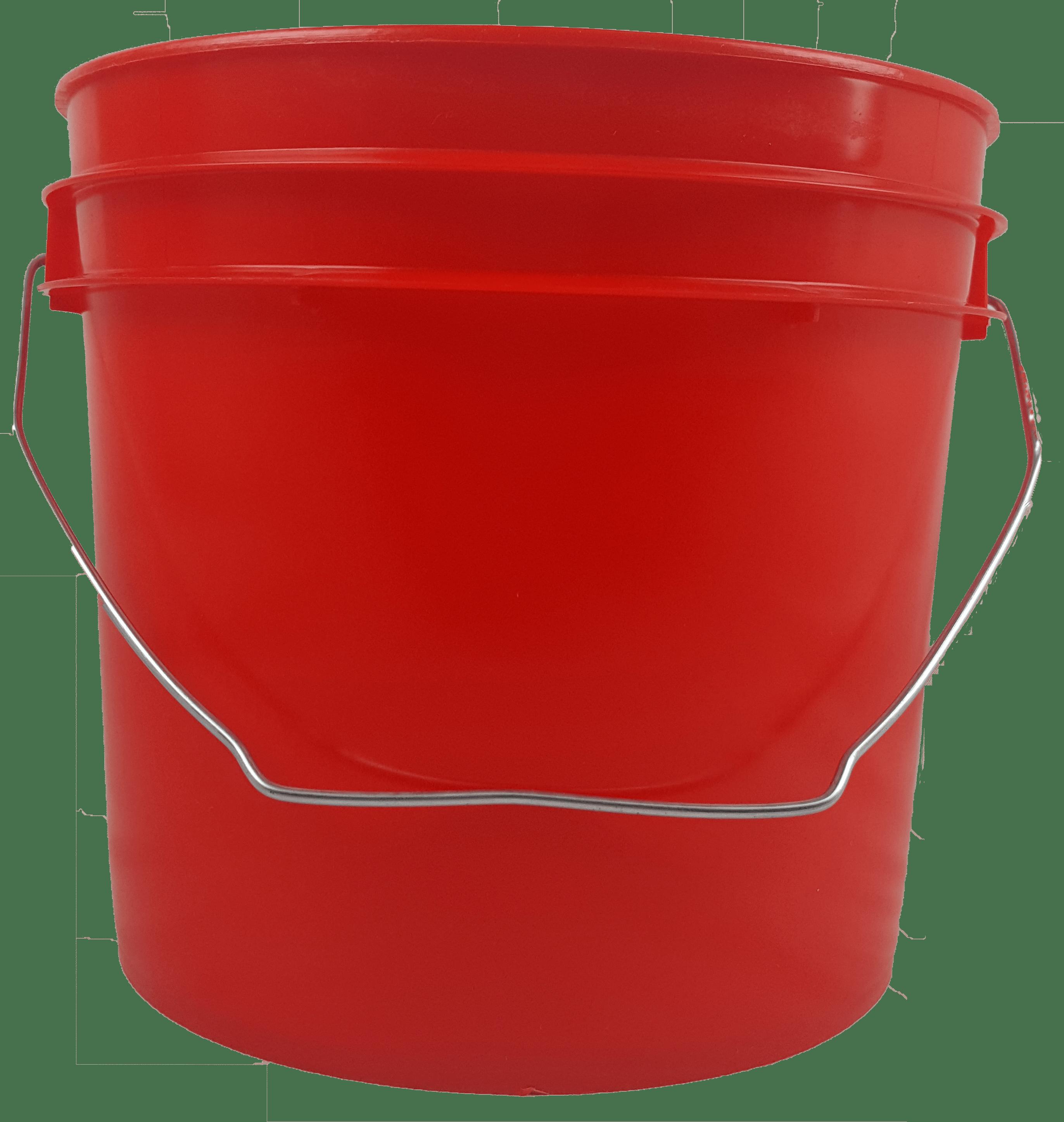 1 Gallon Round Plastic Buckets W Wire Bale Handle 24